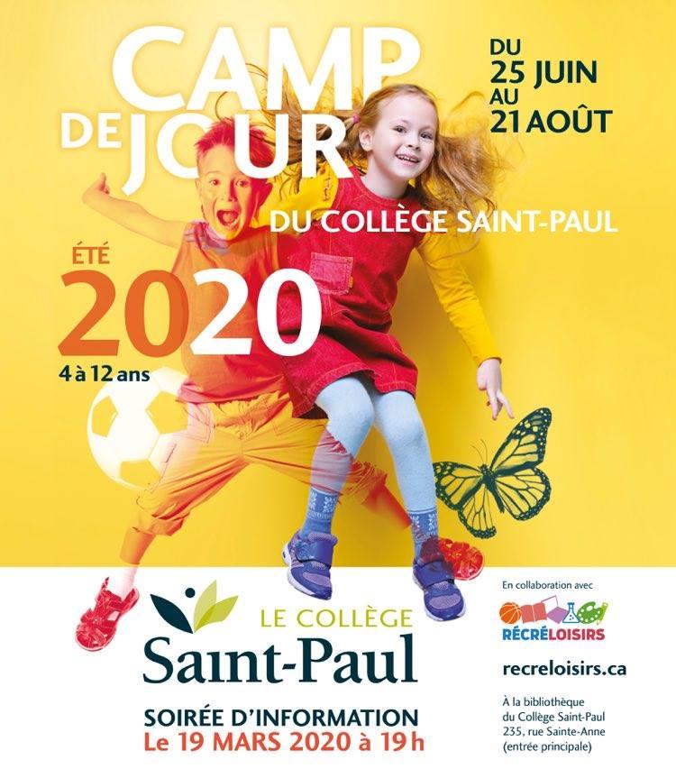 Camp de jour 2020 - Affiche - RécréLoisirs