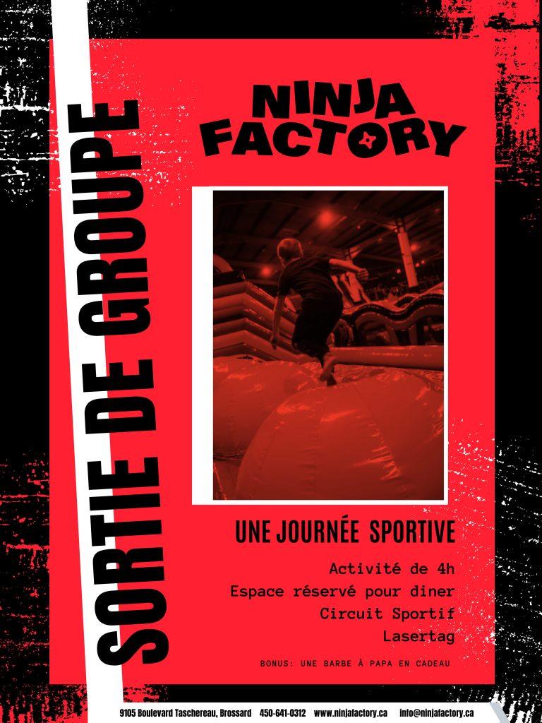 Nos sorties - Ninja Factory - RécréLoisirs